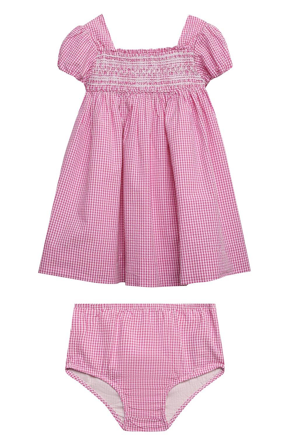 Женский комплект из платья и шорт POLO RALPH LAUREN розового цвета, арт. 310834831 | Фото 1