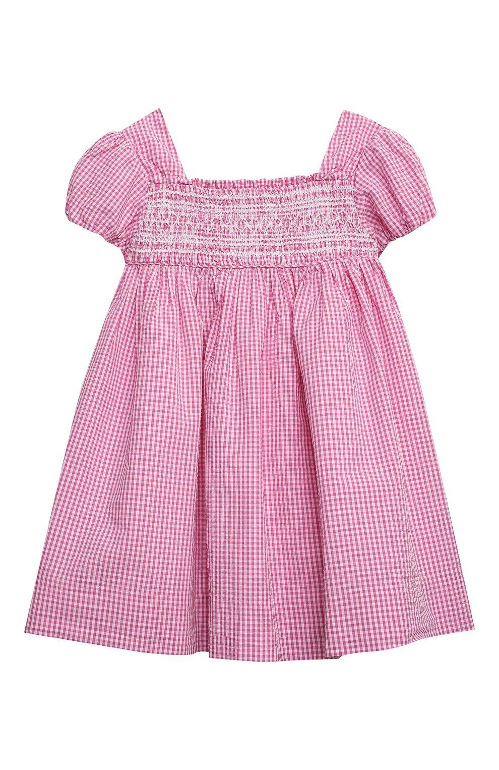 Женский комплект из платья и шорт POLO RALPH LAUREN розового цвета, арт. 310834831 | Фото 2