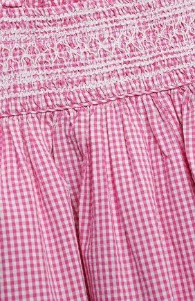 Женский комплект из платья и шорт POLO RALPH LAUREN розового цвета, арт. 310834831 | Фото 4