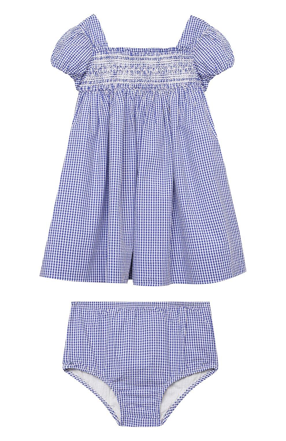 Женский комплект из платья и шорт POLO RALPH LAUREN голубого цвета, арт. 310834831 | Фото 1