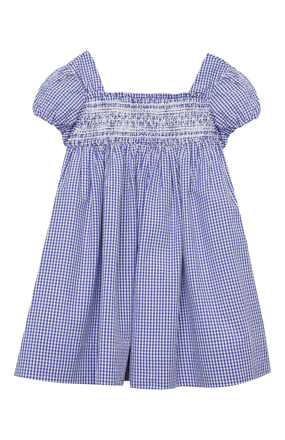 Женский комплект из платья и шорт POLO RALPH LAUREN голубого цвета, арт. 310834831 | Фото 2