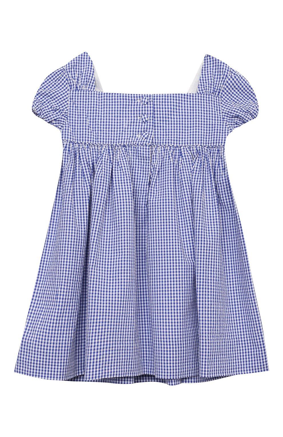 Женский комплект из платья и шорт POLO RALPH LAUREN голубого цвета, арт. 310834831 | Фото 3