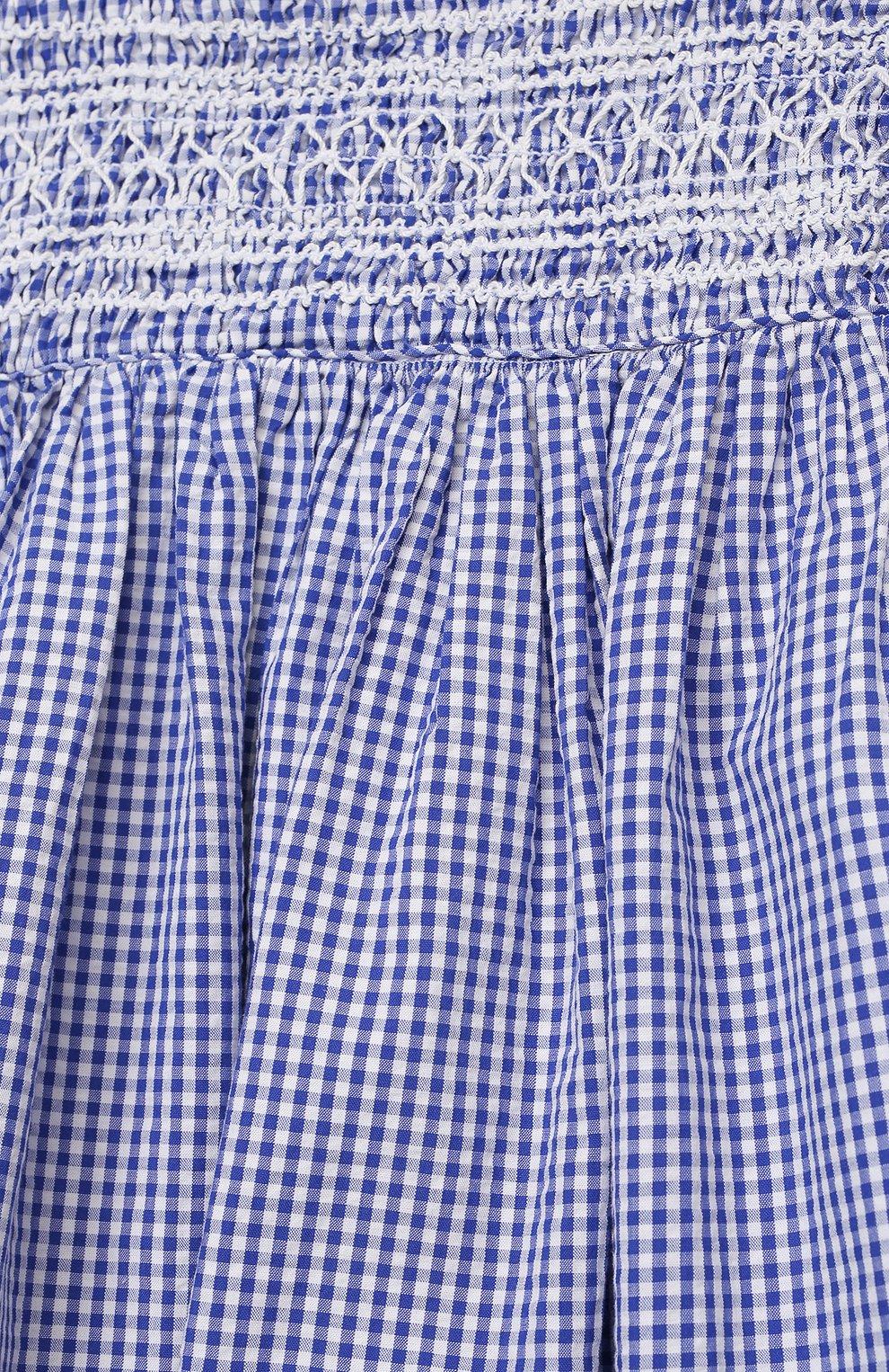 Женский комплект из платья и шорт POLO RALPH LAUREN голубого цвета, арт. 310834831 | Фото 4