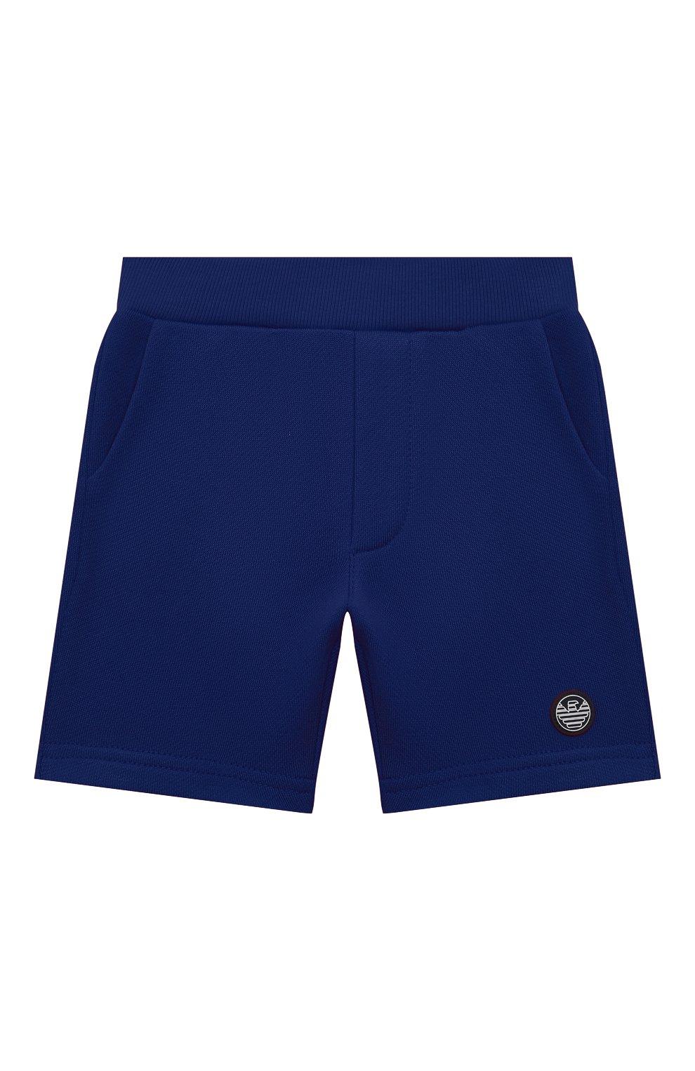 Детские шорты EMPORIO ARMANI синего цвета, арт. 3KHSJ3/4J4IZ   Фото 1