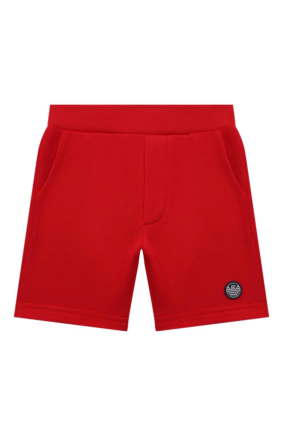 Детские шорты EMPORIO ARMANI красного цвета, арт. 3KHSJ3/4J4IZ   Фото 1