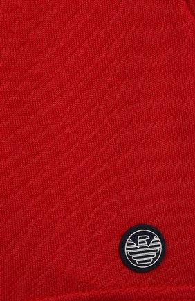 Детские шорты EMPORIO ARMANI красного цвета, арт. 3KHSJ3/4J4IZ   Фото 3
