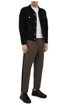Мужская джинсовая куртка PREMIUM MOOD DENIM SUPERIOR черного цвета, арт. S21 03771527/DUTA | Фото 2