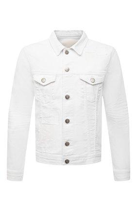 Мужская джинсовая куртка PREMIUM MOOD DENIM SUPERIOR белого цвета, арт. S21 03771527/DUTA   Фото 1