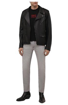 Мужские джинсы PREMIUM MOOD DENIM SUPERIOR светло-серого цвета, арт. S21 03103346/PAUL   Фото 2