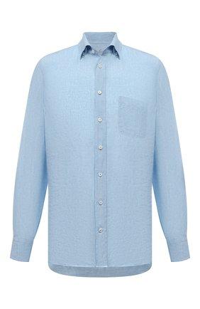 Мужская льняная рубашка VAN LAACK голубого цвета, арт. RADIL-TFW/155970 | Фото 1 (Стили: Кэжуэл; Материал внешний: Лен; Воротник: Button down; Манжеты: На пуговицах; Рубашки М: Regular Fit; Принт: Однотонные; Рукава: Длинные; Случай: Повседневный; Длина (для топов): Стандартные)