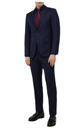 Мужская хлопковая сорочка VAN LAACK темно-синего цвета, арт. RES0-SF05C1N/150018 | Фото 2 (Случай: Формальный; Принт: Однотонные; Манжеты: На пуговицах; Рукава: Длинные; Материал внешний: Хлопок; Рубашки М: Slim Fit; Стили: Классический; Воротник: Акула; Длина (для топов): Стандартные)