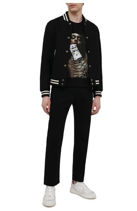 Мужская хлопковая футболка RH45 черного цвета, арт. JS10-I | Фото 2 (Длина (для топов): Стандартные; Материал внешний: Хлопок; Рукава: Короткие; Стили: Гранж; Принт: С принтом)