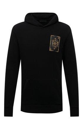 Мужской хлопковое худи RH45 черного цвета, арт. JH15-I | Фото 1