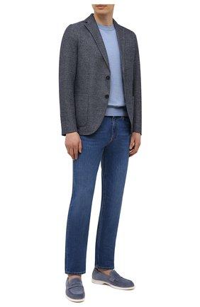 Мужской пиджак из хлопка и льна CIRCOLO 1901 темно-синего цвета, арт. CN3099 | Фото 2