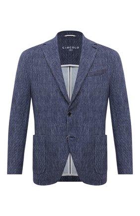 Мужской хлопковый пиджак CIRCOLO 1901 синего цвета, арт. CN3038 | Фото 1