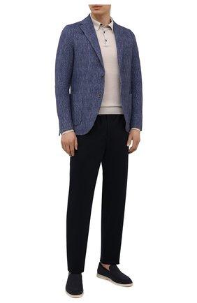 Мужской хлопковый пиджак CIRCOLO 1901 синего цвета, арт. CN3038 | Фото 2