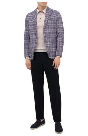 Мужской хлопковый пиджак CIRCOLO 1901 сиреневого цвета, арт. CN3014 | Фото 2