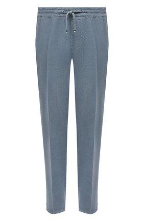 Мужские льняные брюки ALTEA голубого цвета, арт. 2153065 | Фото 1