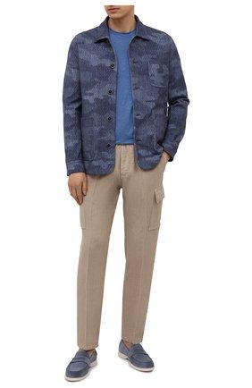 Мужские льняные брюки-карго ALTEA бежевого цвета, арт. 2153025 | Фото 2