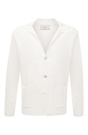 Мужской пиджак изо льна и хлопка ALTEA белого цвета, арт. 2151170 | Фото 1