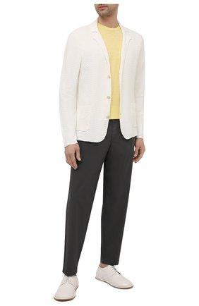Мужской пиджак изо льна и хлопка ALTEA белого цвета, арт. 2151170 | Фото 2