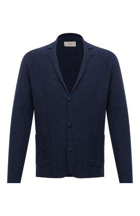 Мужской пиджак изо льна и хлопка ALTEA синего цвета, арт. 2151170 | Фото 1