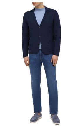 Мужской пиджак изо льна и хлопка ALTEA синего цвета, арт. 2151170 | Фото 2