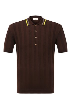 Мужское хлопковое поло ALTEA коричневого цвета, арт. 2151049 | Фото 1