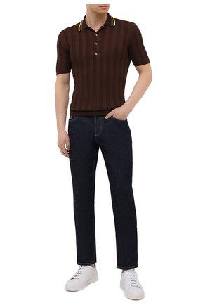 Мужское хлопковое поло ALTEA коричневого цвета, арт. 2151049 | Фото 2