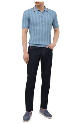 Мужское хлопковое поло ALTEA голубого цвета, арт. 2151049 | Фото 2