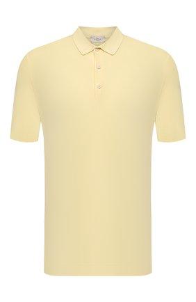 Мужское хлопковое поло ALTEA желтого цвета, арт. 2151028 | Фото 1