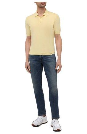 Мужское хлопковое поло ALTEA желтого цвета, арт. 2151028 | Фото 2