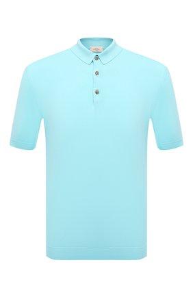 Мужское хлопковое поло ALTEA голубого цвета, арт. 2151028 | Фото 1