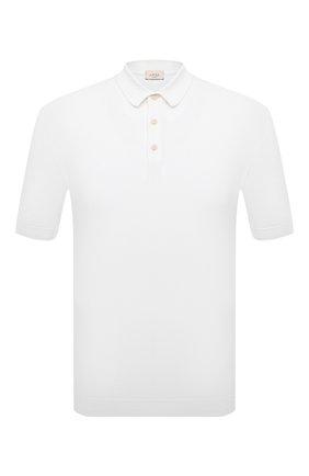 Мужское хлопковое поло ALTEA белого цвета, арт. 2151028 | Фото 1