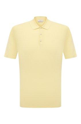 Мужское поло изо льна и хлопка ALTEA желтого цвета, арт. 2151002 | Фото 1