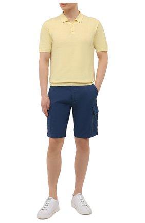 Мужское поло изо льна и хлопка ALTEA желтого цвета, арт. 2151002 | Фото 2
