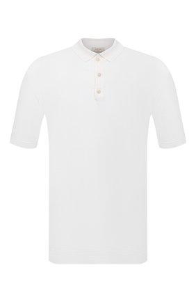 Мужское поло изо льна и хлопка ALTEA белого цвета, арт. 2151002 | Фото 1