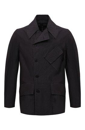 Мужская куртка TRANSIT темно-серого цвета, арт. CFUTRNP252 | Фото 1 (Кросс-КТ: Куртка, Ветровка; Материал внешний: Хлопок, Синтетический материал; Стили: Минимализм; Рукава: Длинные; Длина (верхняя одежда): До середины бедра)