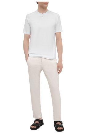 Мужской хлопковый джемпер TRANSIT белого цвета, арт. CFUTRN7421 | Фото 2