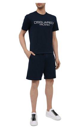 Мужская хлопковая футболка DSQUARED2 темно-синего цвета, арт. S71GD1055/S22844 | Фото 2