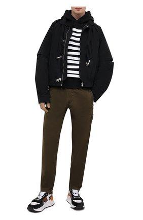 Мужской хлопковое худи DSQUARED2 черного цвета, арт. S71GU0437/S25462 | Фото 2 (Принт: С принтом; Длина (для топов): Стандартные; Стили: Гранж; Материал внешний: Хлопок; Рукава: Длинные; Мужское Кросс-КТ: Худи-одежда)