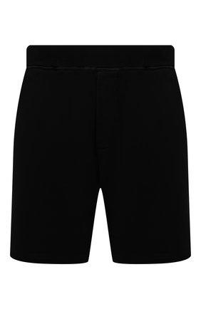 Мужские хлопковые шорты DSQUARED2 черного цвета, арт. S79MU0018/S25042 | Фото 1 (Длина Шорты М: До колена; Принт: С принтом; Стили: Спорт-шик; Материал внешний: Хлопок; Кросс-КТ: Трикотаж)