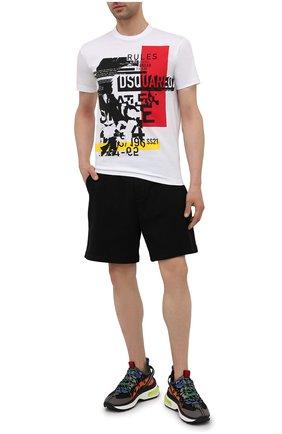 Мужские хлопковые шорты DSQUARED2 черного цвета, арт. S79MU0018/S25042 | Фото 2 (Длина Шорты М: До колена; Принт: С принтом; Стили: Спорт-шик; Материал внешний: Хлопок; Кросс-КТ: Трикотаж)