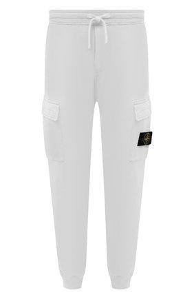 Мужские хлопковые джоггеры STONE ISLAND белого цвета, арт. 741565251 | Фото 1