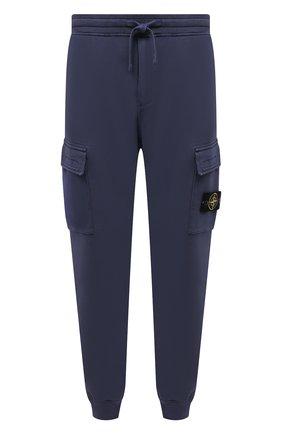 Мужские хлопковые джоггеры STONE ISLAND темно-синего цвета, арт. 741565251 | Фото 1