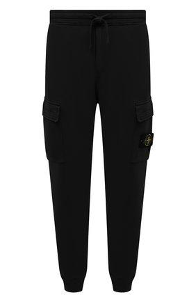 Мужские хлопковые джоггеры STONE ISLAND черного цвета, арт. 741565251 | Фото 1