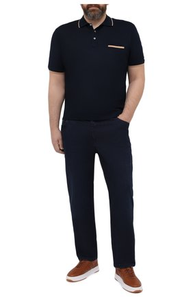 Мужские джинсы ZILLI синего цвета, арт. MCV-00020-MARV1/R001/66-68 | Фото 2 (Big sizes: Big Sizes; Материал внешний: Хлопок; Силуэт М (брюки): Прямые; Кросс-КТ: Деним; Стили: Классический; Длина (брюки, джинсы): Стандартные)