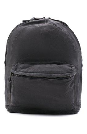 Мужской кожаный рюкзак GIORGIO BRATO темно-серого цвета, арт. BS21S2401V | Фото 1