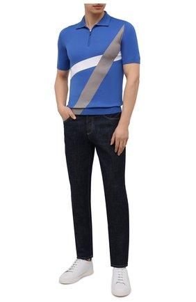 Мужское хлопковое поло SVEVO синего цвета, арт. 46319SE21/MP46 | Фото 2