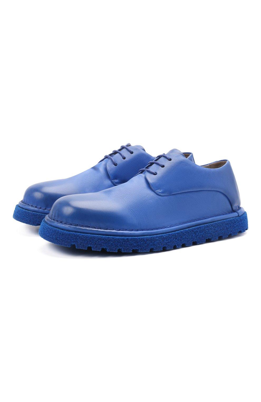Мужские кожаные дерби MARSELL синего цвета, арт. MMG353P/PELLE V0L0NATA | Фото 1 (Материал внутренний: Натуральная кожа; Стили: Классический)